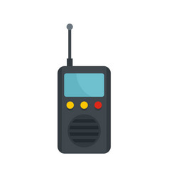 Radio station icon flat style vector