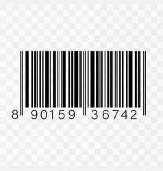 Realistic barcode icon isolated vector