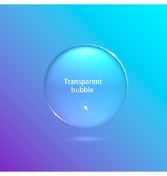 realistic transparent bubble on a light background vector image