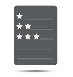 review icon on white background review sign flat vector image