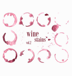 Set of wine stains and splatters vector