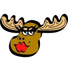 sexy moose vector image