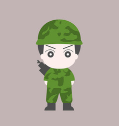Soldier cartoon flat design vector