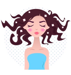 Spa woman with beautiful hair vector image
