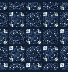 Square patchwork motif japanese style seamless vector