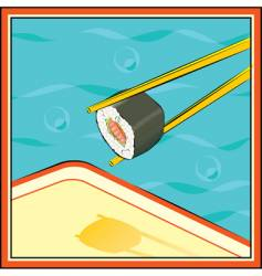 Sushi-roll vector