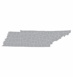 Tennessee counties map vector