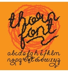 Thorn alphabet font vector