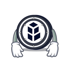 Tired bancor coin mascot cartoon vector