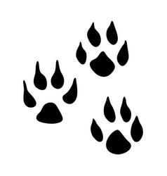 weasel footprint vector image