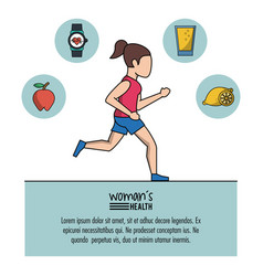 White background of poster woman health with woman vector