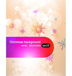 White Christmas Background with Snowflakes vector image
