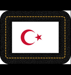 White turkish flag with red crescent and star vector