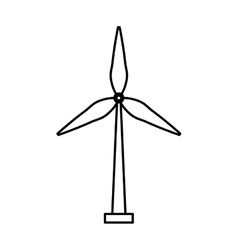 wind energy isolated icon vector image