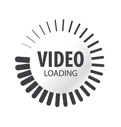 abstract logo video loading vector image