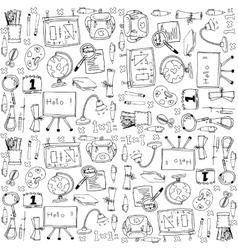 Big doodles school education vector image vector image