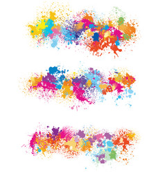 elements for design from paint stains vector image