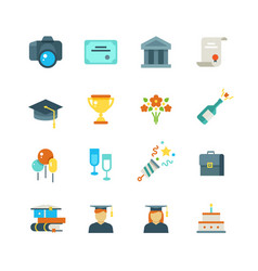 graduate student party college graduation vector image vector image