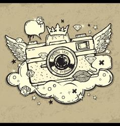 Grunge photocamera Design vector image vector image