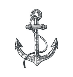 Hand drawn of an anchor vector image