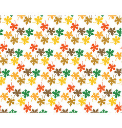 pattern from leaves of maple vector image vector image