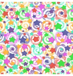 Seamless pattern colored stars vector image vector image