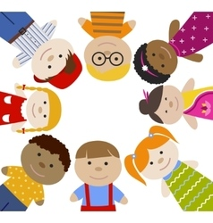 Square frame with children vector image vector image