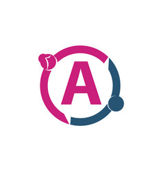 Teamwork sharing dating initial a vector