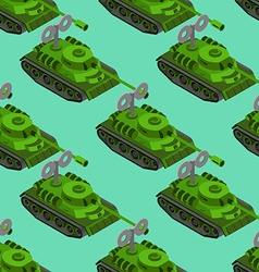 Toy Tank isometric seamless pattern Military vector image