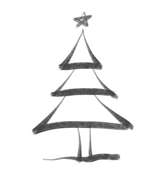 ChristmasTree bw vector image vector image