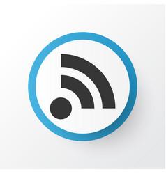 feed icon symbol premium quality isolated wifi vector image