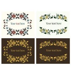 flower decorative borders set vector image vector image