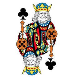 king of clubs isolated french version vector image vector image