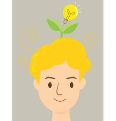 Man Idea Tree vector image vector image