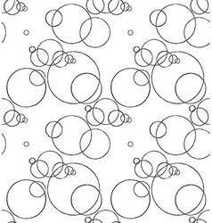 Seamless pattern with ink circles drawing vector image
