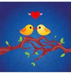 spring birds illustration vector image vector image