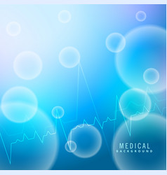 blue medical background with molecules shapes vector image