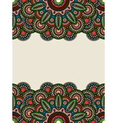 Boho hippie colored floral borders vector image vector image