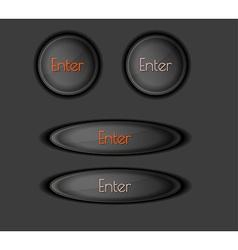 enter button vector image