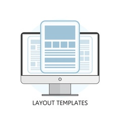 Isolated Flat Design Layout Templates Icon vector image vector image