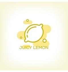 Lemon and healthy fruit design logo vector image