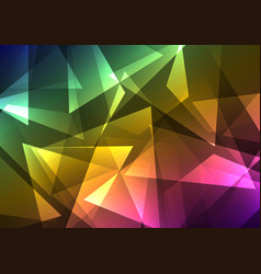 rainbow crystal abstract background vector image vector image