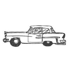 retro car side view vector image vector image