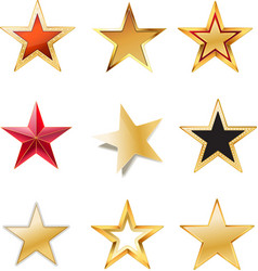 set stars vector image vector image