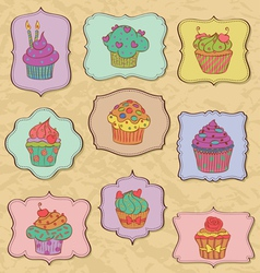 cupcakes fr vector image