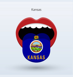 Electoral vote of kansas abstract mouth vector