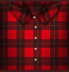 folded plaid shirt vector image
