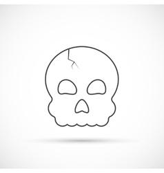 Halloween skull outline icon vector image vector image