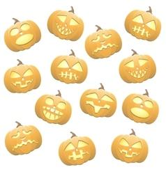 Seamless pumpkins background vector image vector image