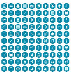 100 medical care icons sapphirine violet vector